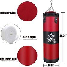 Heavy Boxing Punching Bag Training W/ Gloves Bandages Kicking Mma Workout Empty