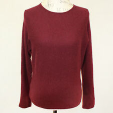 Isda & Co 2-Ply 100% Cashmere Sweater Red Crewneck Long Sleeves Soft Warm Small