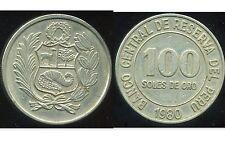 PEROU  100 soles  de oro 1980