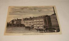 1876 magazine engraving ~ DIAMOND-CUTTING WORKS ON AMSTEL, Holland