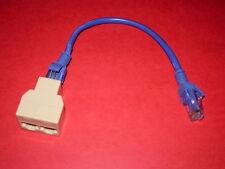 Splitter Doubleur Coupleur Ethernet RJ45  avec cordon 20cm