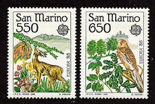 San Marino-1986-SC 1107-1108-H-Deer,Falcon-Europa Issue
