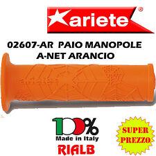 Coppia / Paio Manopole A-NET ARANCIONE ORIGINALI ARIETE 02607-AR per KAWASAKI