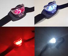 Tête torche lumière lampe mains libres blanc lumineux & LED Rouge Nuit Camping Astronomie