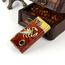 Cool Scorpion Style Butane Gas Jet Flame Cigar Cigarette Windproof Lighter QE