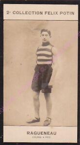 Chromo trade card Photo GASTON RAGUENEAU Course à pieds FRANCE circa 1907