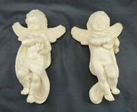 Collectible Vintage Italian Hanging Angel Cherub Pair By A Giannelli 6""