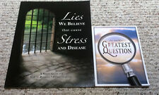 Gothard/ IBLP/ATI Book Materials Lot The World's Great Questions Lies We Believe