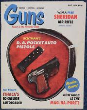 Magazine *GUNS* May, 1974 !LICHTMAN Model 2 .380 ACP PISTOL! *WALTHER GSP/.32*