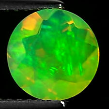 1.14 Ct Natural Ethiopian Faceted Opal Gemstone Multi Color Round Cut