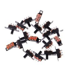 20 Pcs DC 50V 0.5A 3 Solder Lug Pin 2 Position SPDT 1P2T Mini Panel Slide Switch