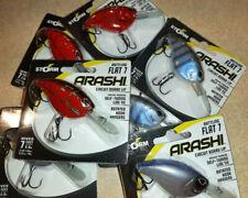 2 Pack Storm Arashi Lures - Flat 7 Rattling - New