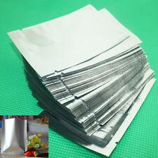 100 Bolsa De Mylar Plateado Lámina de Aluminio Bolsa De Vacío Sellador Almacenamiento de Alimentos-Vario Tamaño