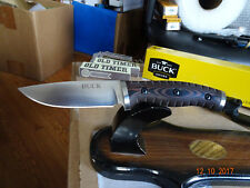 "BUCK KNIFE THE 8 1/4"" OVERALL SELKIRK SURVIVAL KNIFE 420HC S.S. BLADE BLACK SHE"