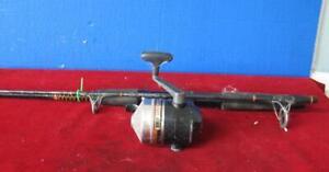 Vintage Zebco Omega 154 Gold Under Spin Trigger Reel & Ugly Stick Rod