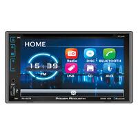 Power Acoustik PD-627B 2 DIN CD/DVD/MP3 Player Bluetooth AUX USB SD Camera Input