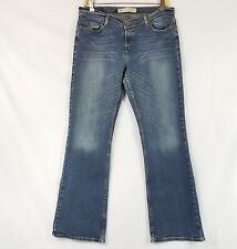 Express Precision Fit Hipster Flare Button Fly Denim Jeans Juniors Size 13/14 R