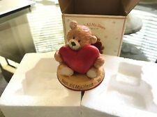 Thinking Of You Gund First Edition Bear With Heart With All My Heart