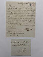 Lettera autografa di Francesco I di Borbone Due Sicilie alle 33 Cappuccine 1815