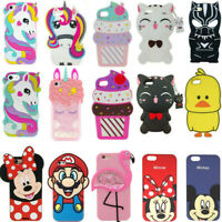 3D Cartoon Silicone Cover Case For iPhone 5S 6 6S 7 8 X XS XR XS Max Touch 7 6 5