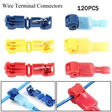 120 Insulated 22-10 AWG T-Taps Quick Splice Wire Terminal Connectors Combo Kit