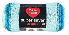 Red Heart Super Saver Ombre Yarn 10 oz Scuba New Fast Free Shipping