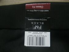 (TK21 ) ( NEW & TAG )  Mens F & F BLACK STRAINGHT TROUSERS WAIST 42   LEG 31""