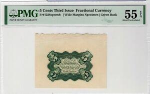 Fr1283SP-WM-REV 3rd issue 5¢ wide margin specimen - PMG55EPQ