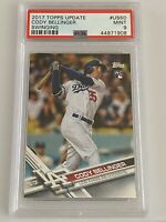 2017 TOPPS UPDATE CODY BELLINGER ROOKIE CARD RC #US50 PSA 9 MINT QTY