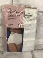 NEW Vintage Underscore Nylon Panties Briefs 3 Pack Missy Size 6 JCPenney
