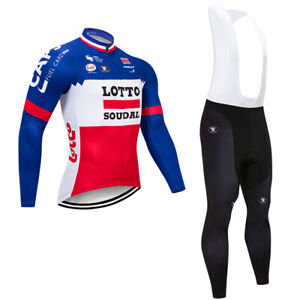 Long Sleeve Cycling Jerseys Sports Riding Bib Pants 3D Pad Set Bicycle Clothes