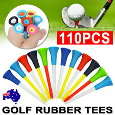 110Pack 83mm Golf Tees Plastic With Rubber Cushion Top High Quality Multi Color