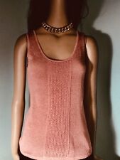 NWT Luca Luca Courtney Blush Sleeveless Knit Top Orig $420. S/M