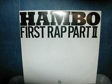 "Hambro-First rap part2 12"" P/S 1985"