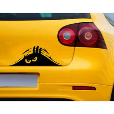 1pc Funny Peeking 3D Eyes For Car Bumper Window Wall Vinyl Decal Black Sticker