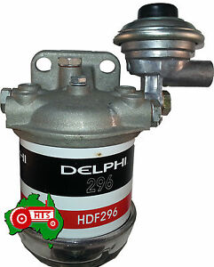Universal Fuel Filter Assembly with Primer Pump Delphi Tractor Bobcat Truck etc