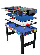 "4 in 1 Multi Game Table for Kids 31.5"" Steady Combo Game , Soccer Foosball Table"