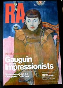 PAUL GAUGUIN Gauguin and the Impressionists    2020 ART EXHIBITION POSTER