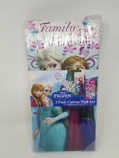 Disney Frozen Canvas Wall Art 2 Pack Elsa, Anna & Olaf New Sealed