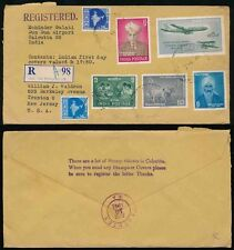 INDIA AIRPORT REGISTERED STAMP DEALER ENVELOPE GULATI...THIEVES HANDSTAMP 1961