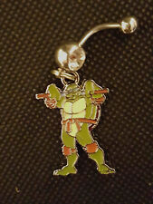 Ninja turtle power Belly Ring Navel Ring 14G Surgical Steel Dangle