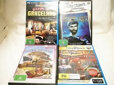 "MYSTERY PUZZLE BUNDLE BULK PACK, 4 X PC GAMES ""PREOWNED"" AUZ SELLER GP02"