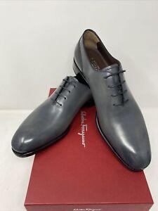 Salvatore Ferragamo Barclay Tramezza Size 9E Lace Leather Dress Shoes Orig $1290
