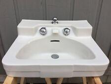 White vintage Crane Drexel 1950s/60s porcelain sink lavatory original MCM