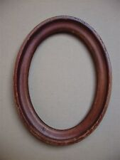 Ancien petit cadre ovale en bois