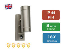 PIR Wall Mounted up and Down Outside or Indoor Light Stainless Steel Ip44