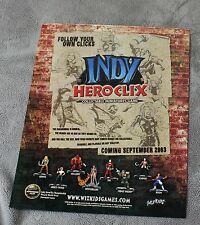 Indy HeroClix 2003 Hell Boy Judge Dredd Witchblade Game Toy PROMO Poster VF