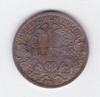1902 1 Mark Germany German Silver Coin Y-279