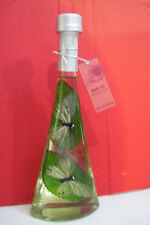 "Rare Fiore Bath Oil In 10"" Tall Bottle with Butterfly & Leaf Lavender Scent"
