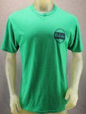 Quiksilver Green Medium T-shirt w/ Navy Blue Distressed Logo